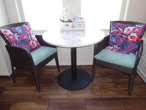 Kathryn Bechen bistro table and chairs.J