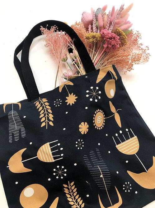 Tote Bag - Scandi Flower - Navy