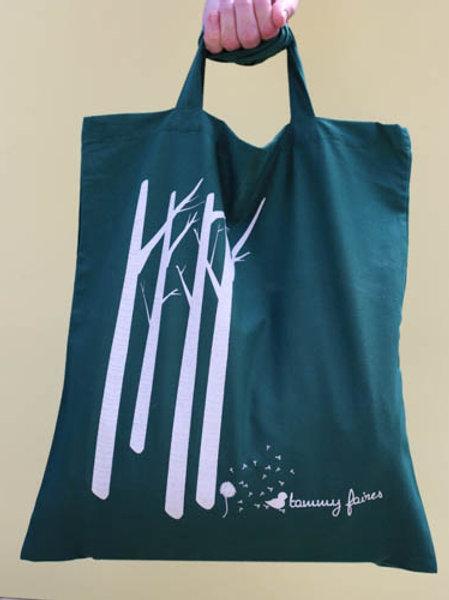 Tote Bag - Birch Meets Dandelion - Green