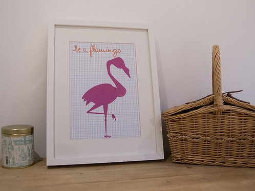 be a flamingo wall art