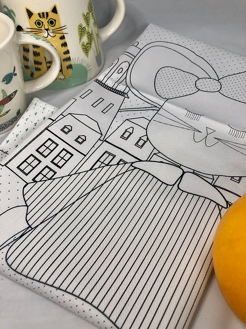 Large Teatowel Luxembourg Mouse