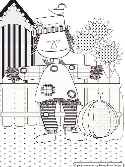Scarecrow Colouring in Sheet