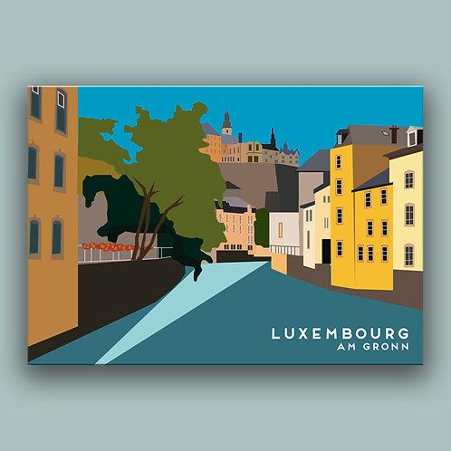 Luxembourg - am Gronn Landmark  Poster