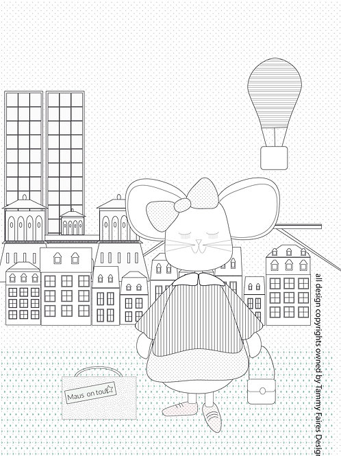 Luxembourg Maus Colouring In