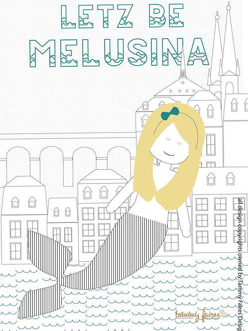 Melusina Colouring In