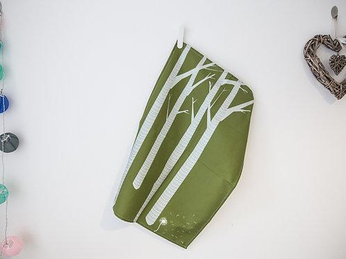 Large Tea Towel Birch meets Dandelion Green