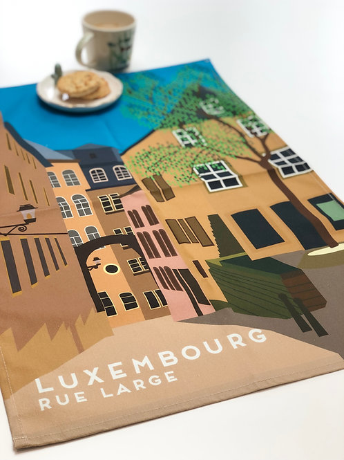 Large Teatowel Luxembourg Rue Large Landscape
