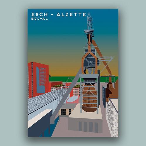 Esch - Alzette Landmark  Poster