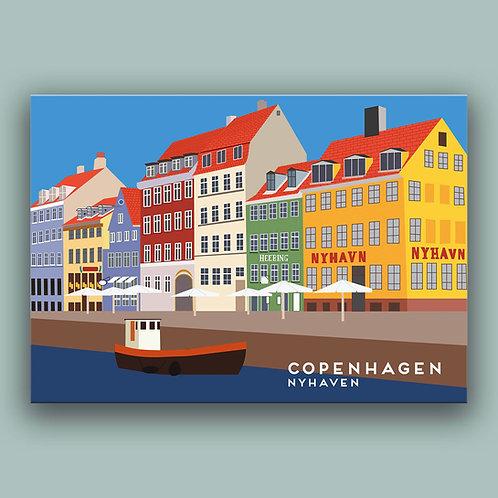 Copenhagen Nyhavn Landmark  Poster