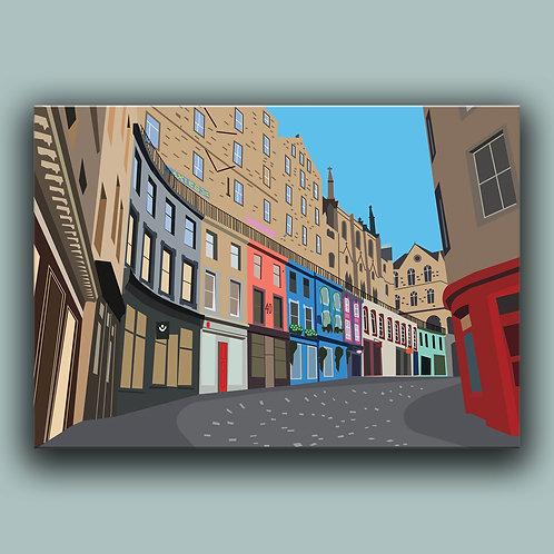 Victoria Street Edinburgh Landmark  Poster