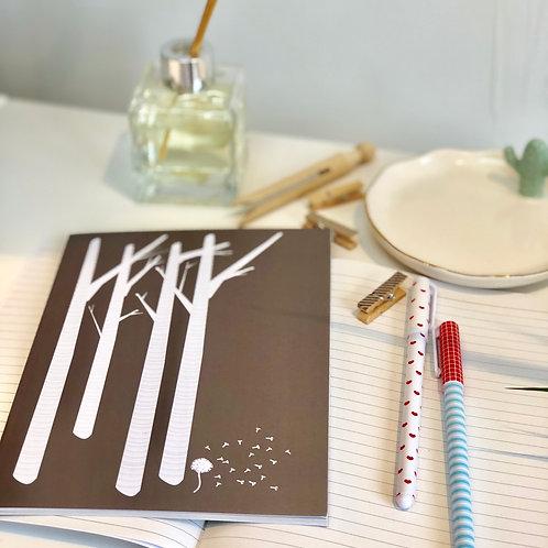 A5 Notebook - Birch Meets Dandelion