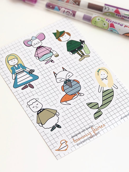 Nostalgic Heroes Sticker Sheet