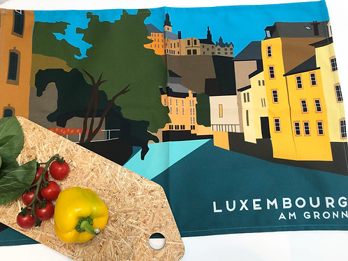 Large Teatowel Luxembourg Am Gronn Landscape