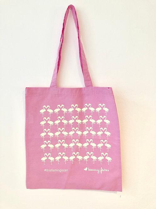 Tote Bag - Flamingo - #thisflamingocan -pink
