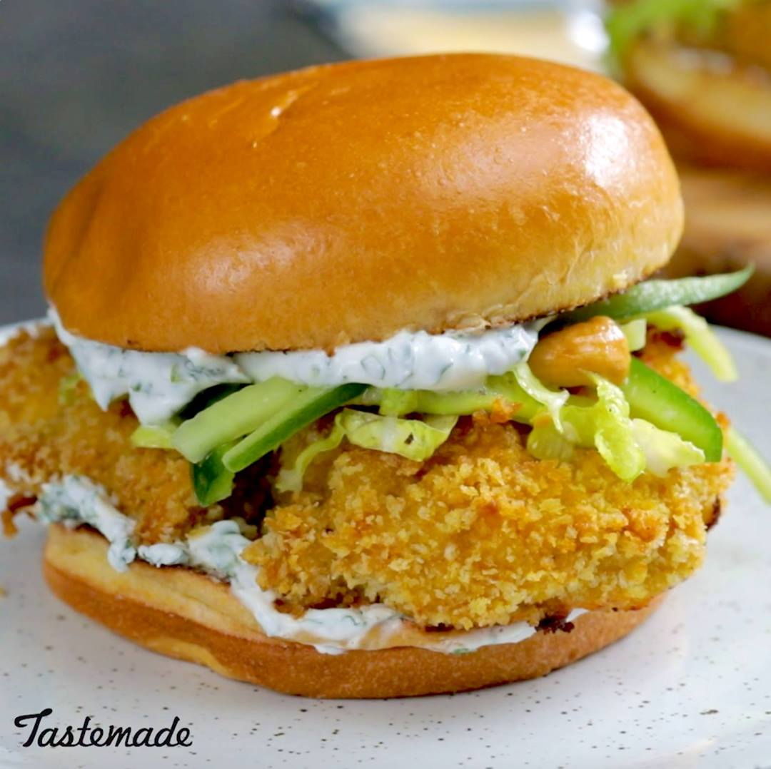Oven-Fried Chicken Sandwich