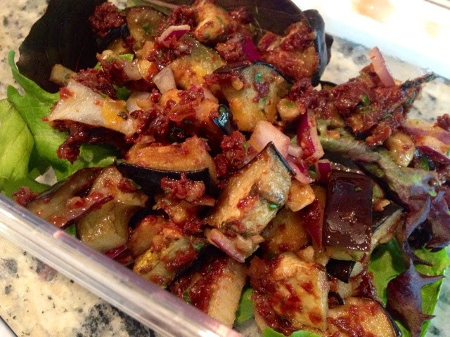 Chilled Eggplant & Sun-dried Tomato Salad