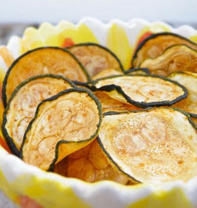 Baked Sea Salt & Vinegar Zucchini Chips