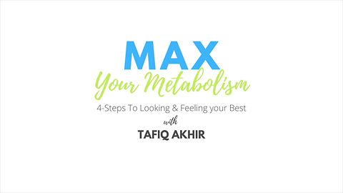 MAX YOUR METABOLISM