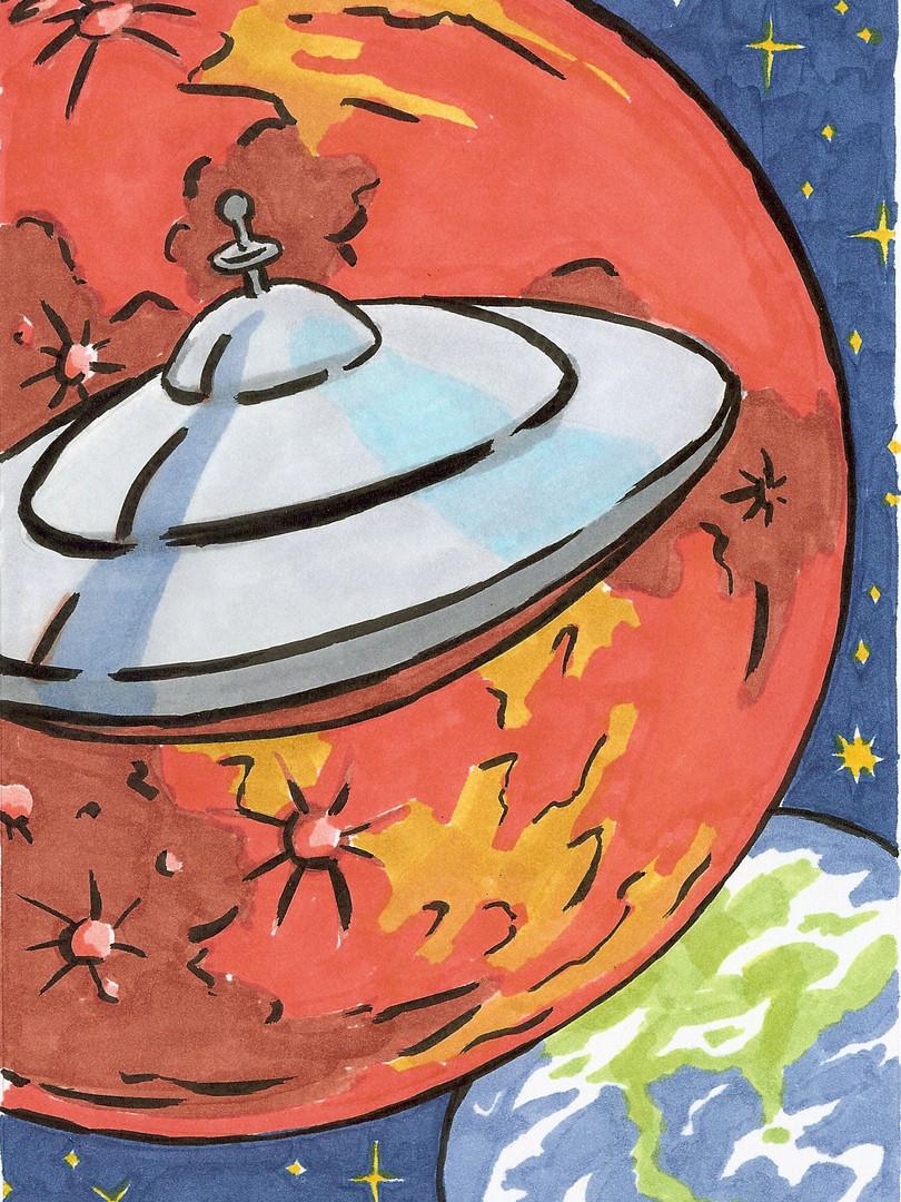 Mars Flying Saucer