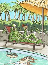 Poolside Creature