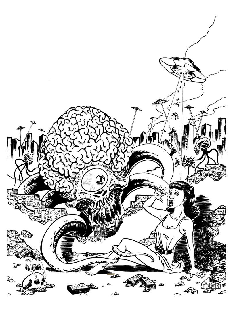 Invasion of the Astro Brains - Inks