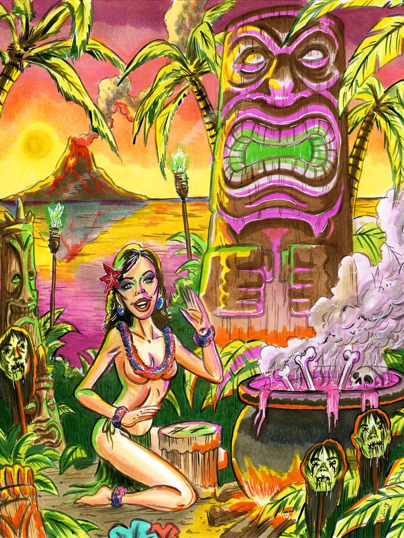 Tiki Beach Witch