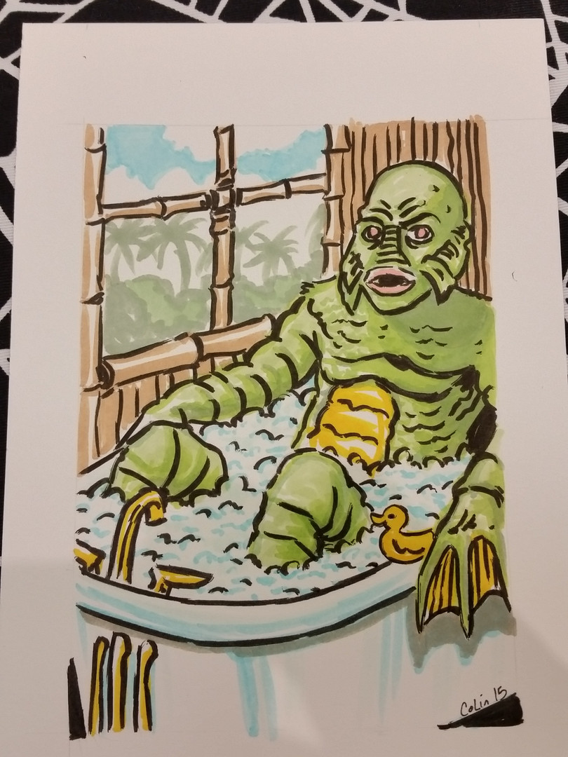 Creature in Bath