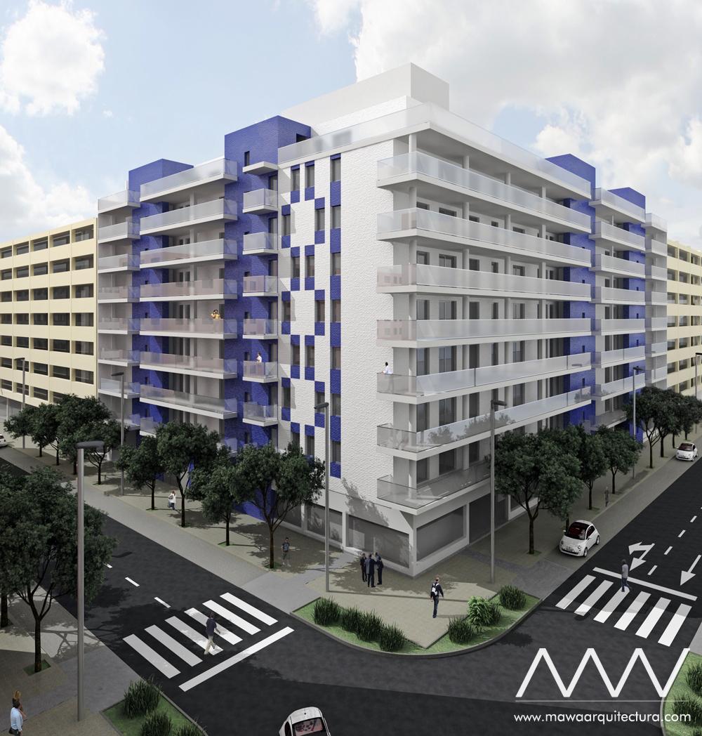 MAWA Proyecto 70 Viviendas Zaragoza
