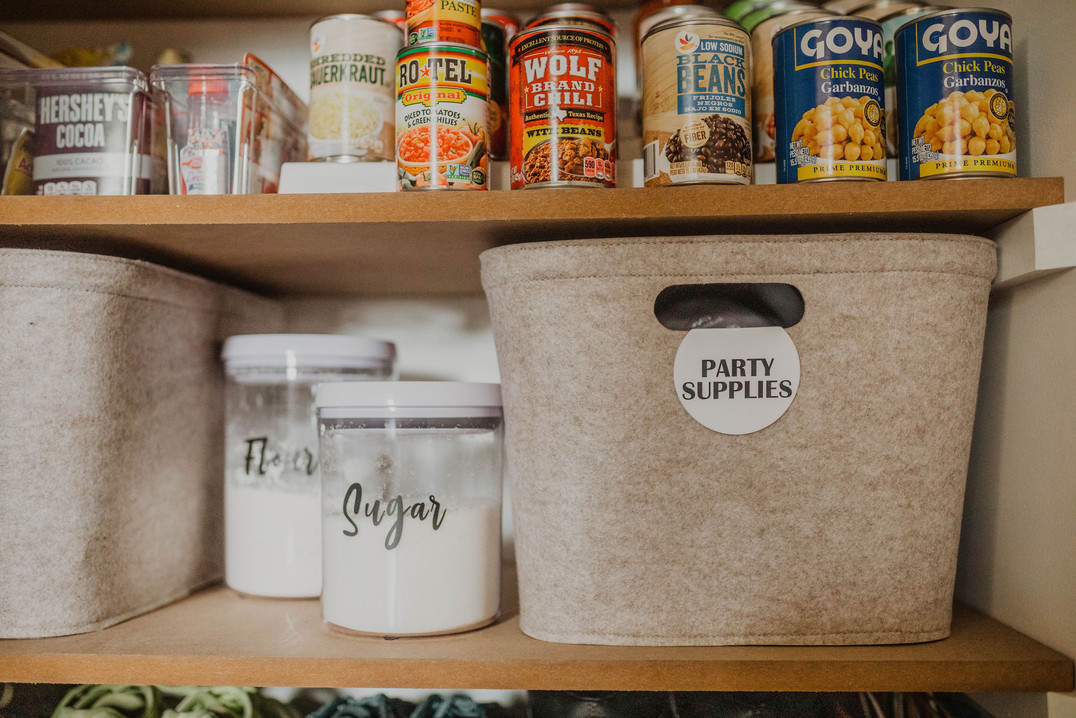 Labels - Party supplies in pantry.jpg