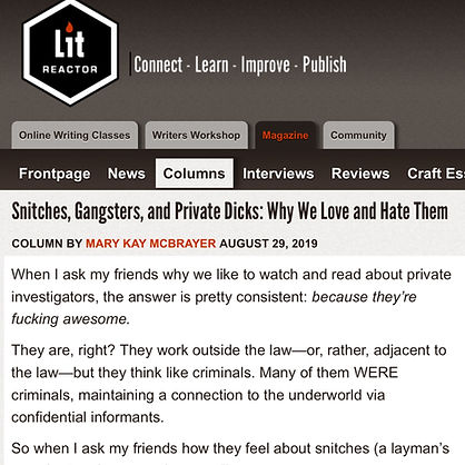 litreactor snitches gangsters private di