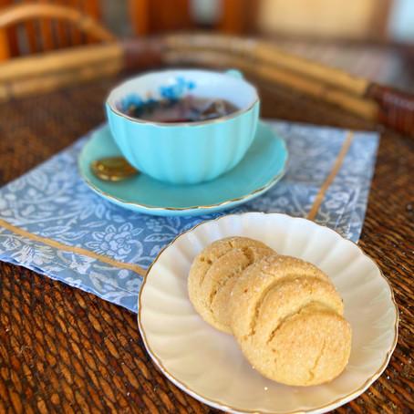 Galletas de vainilla con costra crujiente