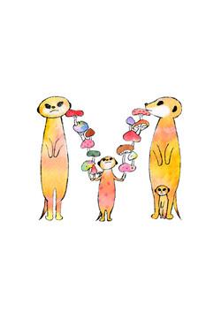 Meerkat & mushroom.