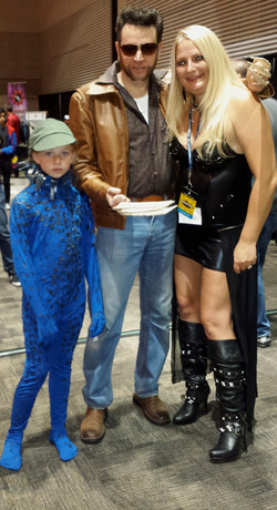 Wolverine and Mystique With M