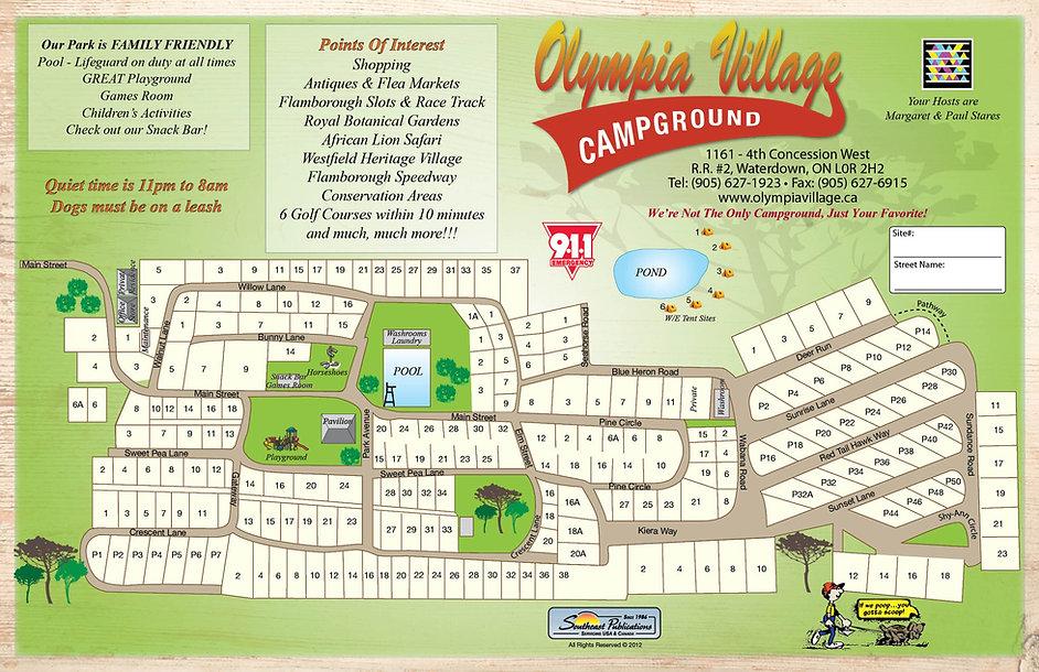 Olympia Village RV Park Map