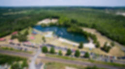 Emerald LakeCampground and waterpark aerial view