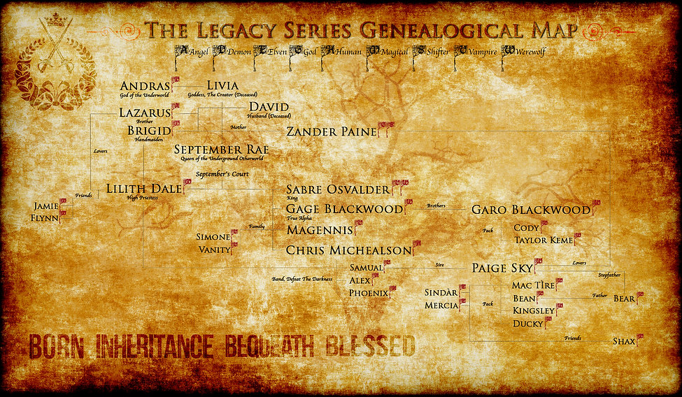 The Legacy Series Charachter Map