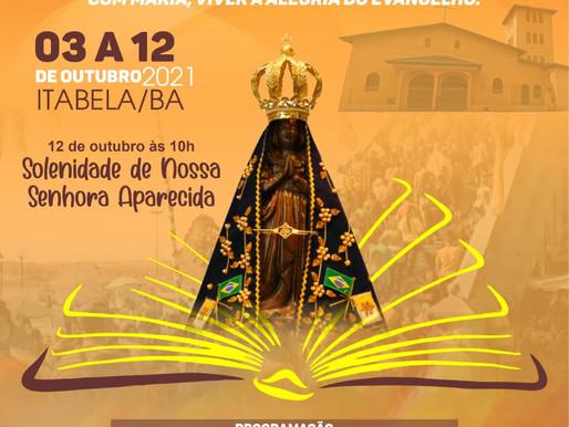 Novena e Festa de Nossa Senhora Aparecida 2021 em Itabela, BA.
