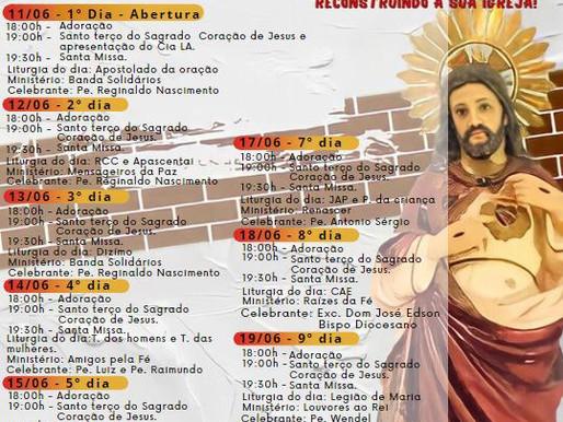 Novenário e Festa em honra ao Sagrado Coração de Jesus