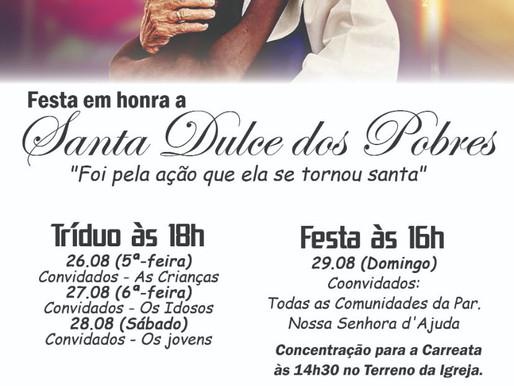 FESTA EM HONRA A SANTA DULCE DOS POBRES
