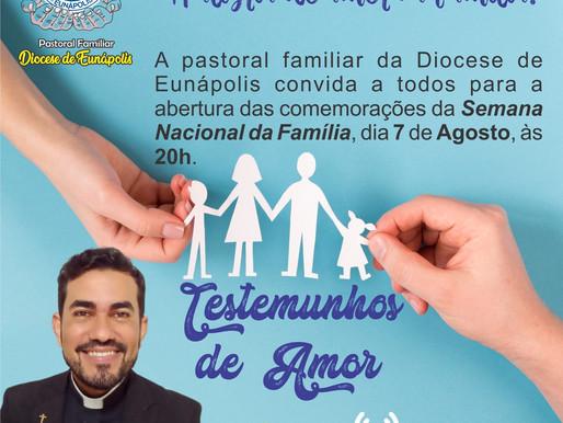 Semana Nacional da Família 08 a 14 de agosto
