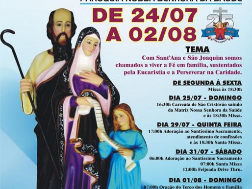 Novenário em honra a Sant'Ana e São Joaquim 24/07 à 02/08