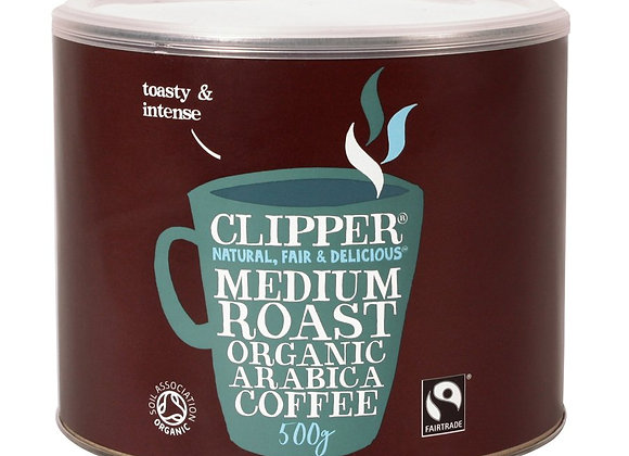 Clipper Fairtrade Organic Medium Roast Arabica Instant coffee 500g