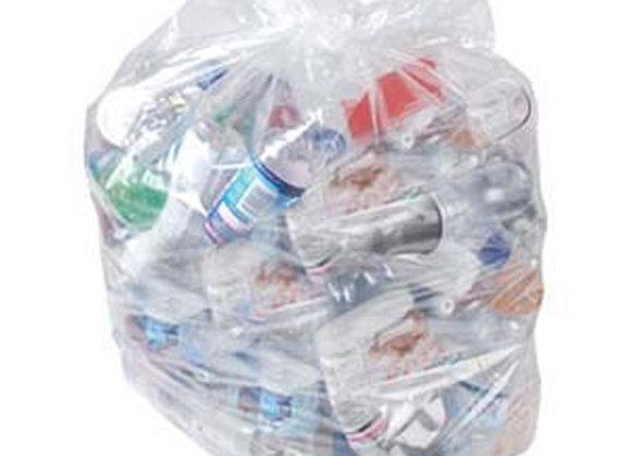 Heavy duty clear refuse sacks (200)