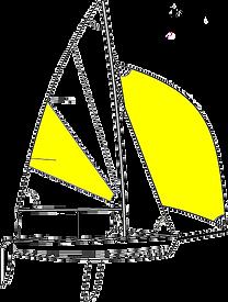 Plachetnice RS Feva pro děti a mládež.