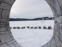 Zima na ledě.