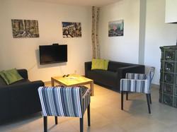 Vila Lanovka Lipno obývací pokoj