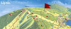 Letní mapa Lipno.