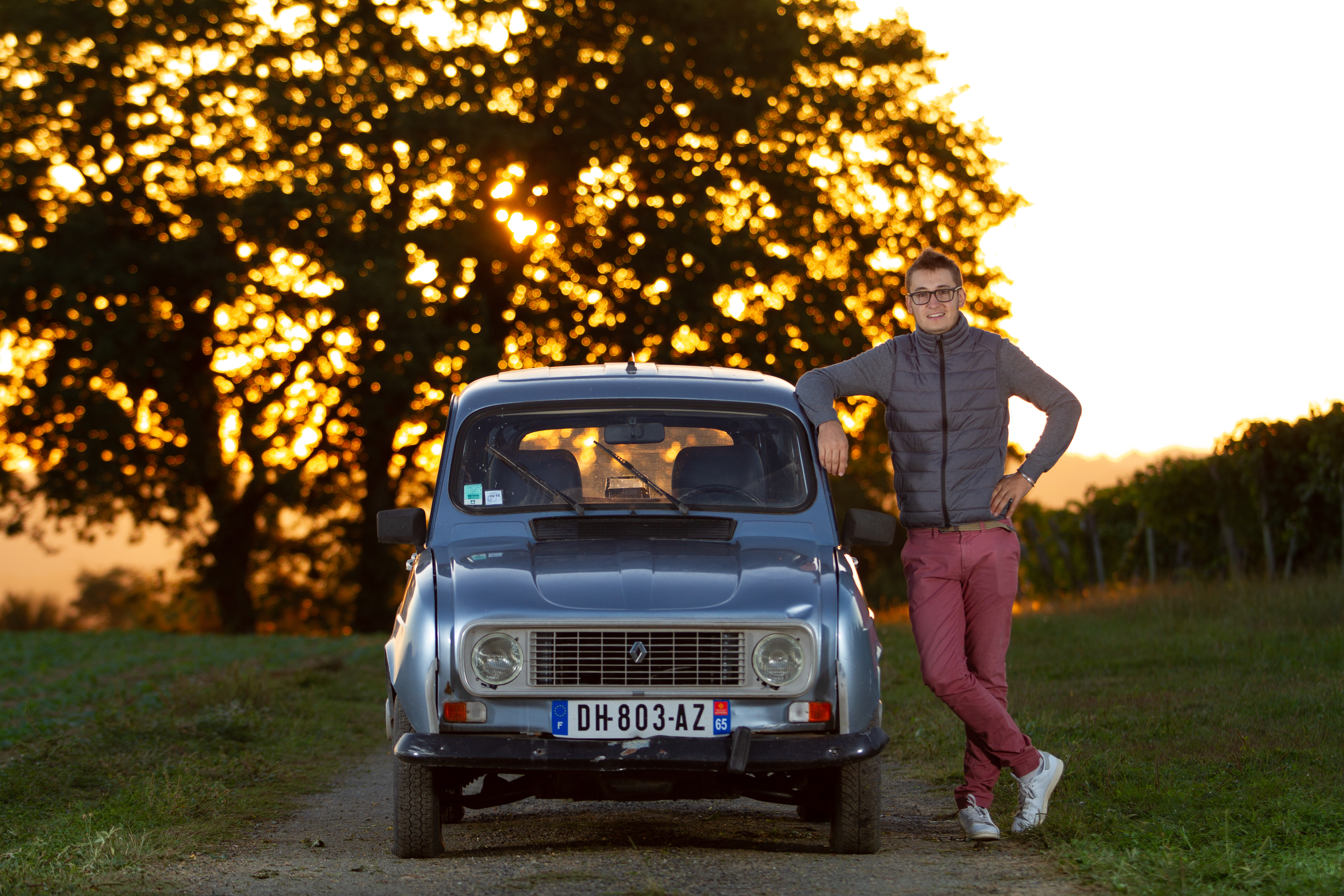 Le jeune vigneron Simon Ribert