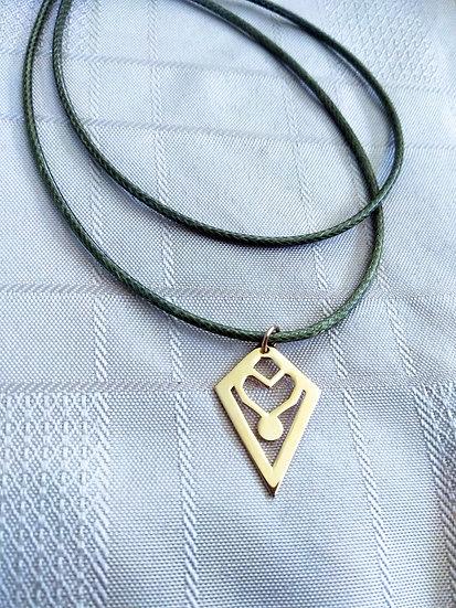 Geometric heart necklace