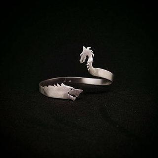 Wolf Silver Bracelet